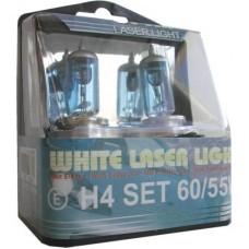 LAMPENSET WHITE LASER LIGHT H4 60/55W 12V 2 STUKS