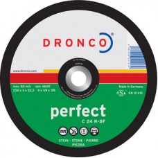 F-DV125C DRONCO PERFECT DOORSLIJPS. STEEN C24R 125 3/22.2 VLAK VPE:25