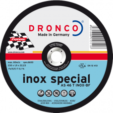 F-DV115INOX DRONCO SPECIAL RVS 115 1.6/22.2 AS 46 INOX VLAK VPE:25