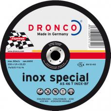 F-DV125INOX DRONCO SPECIAL INOX 125 1.6/22.2 AS 46 INOX VLAK VPE:25