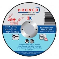F-ADK115INOX DRONCO INOX SPECIAL DOORSLIJP AFBRAAM 115 2.5/22.2 VPE:25