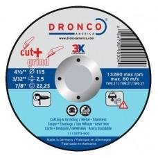 F-ADK125INOX DRONCO INOX SPECIAL DOORSLIJP AFBRAAM 125 2.5/22.2 VPE:25