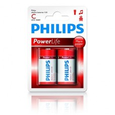 LR14 POWERLIFE 1.5V SIZE C 2 X C ROOD PHILIPS