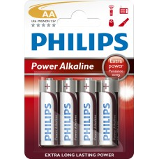 PHILIPS ALKALINE LR6/AA 1,5V POWERLIFE LR6PW, BLISTER 4ST