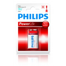 PHILIPS POWERALKALINE 1 X 9V ROOD PHILIPS