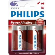 PHILIPS POWERLIFE LR20 BATTERIJ (D) 1.5V X2ST.