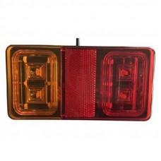 ACHTERLICHT LED 150X80X21.5 MM 30 CM KABEL 16 LED'S 12V/24V